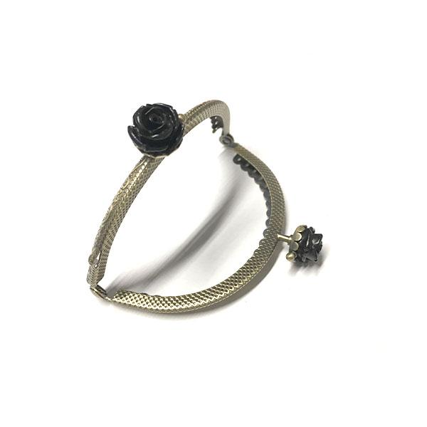 Click Clack Ovale Bronzo 8,5 cm con Rose Colorate