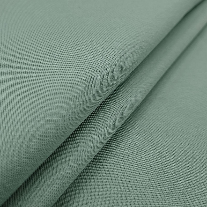 Tessuto Organico Jersey Tinta Unita  Verdino