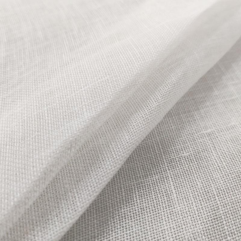 Tessuto Tenda 100% Lino Liscio Tinta Unita