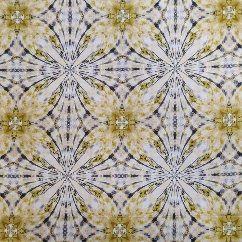 Tessuto Gutermann Flowers Hypnose Yellow