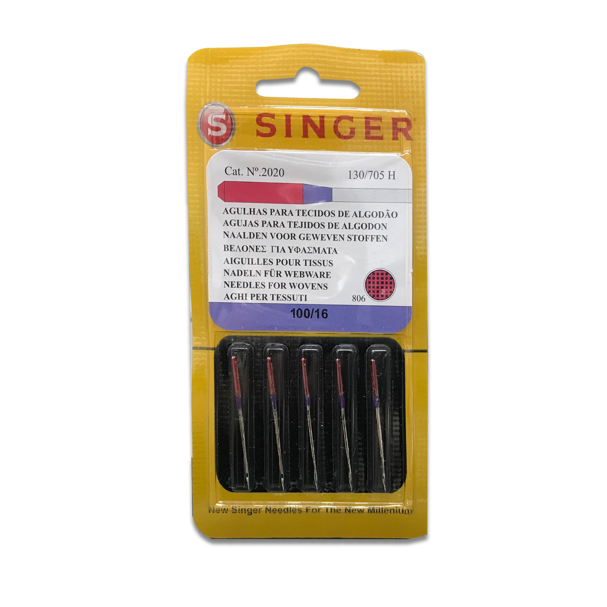 Aghi Singer per Tessuti di Cotone 2020 100/16