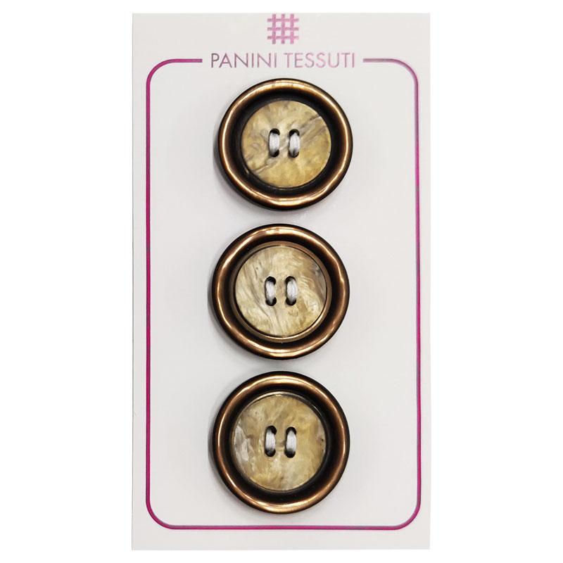 Bottoni Effetto Marmo Colore Marrone 3 Pezzi - Lin 36