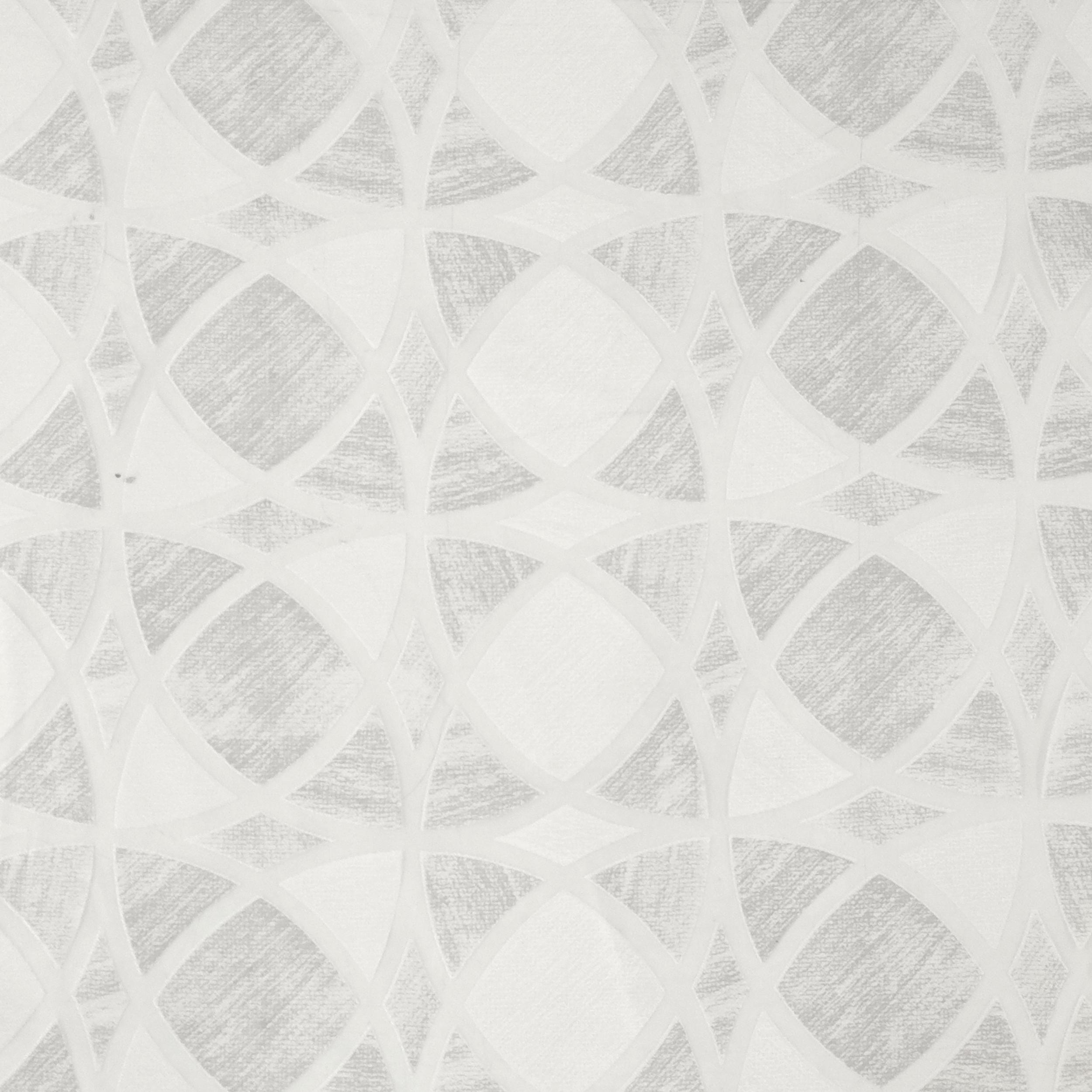Tessuto Tendino Devorè Geometrico Grigio