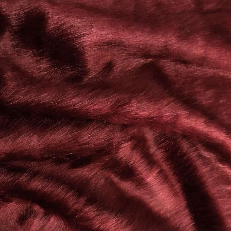 Pelliccia Morbida da Abbigliamento Bordeaux