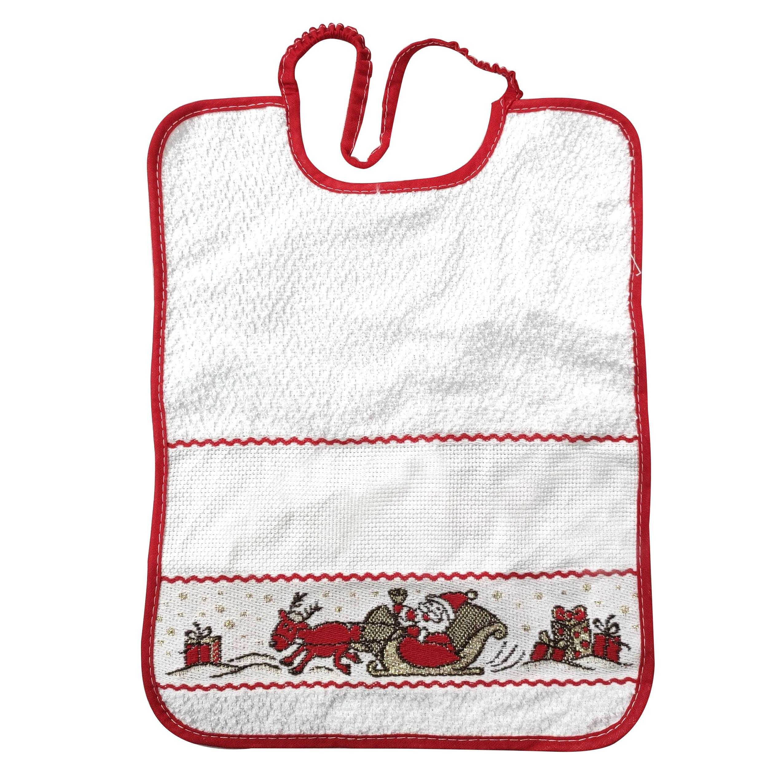 Bavaglino Slitta di Babbo Natale Grande