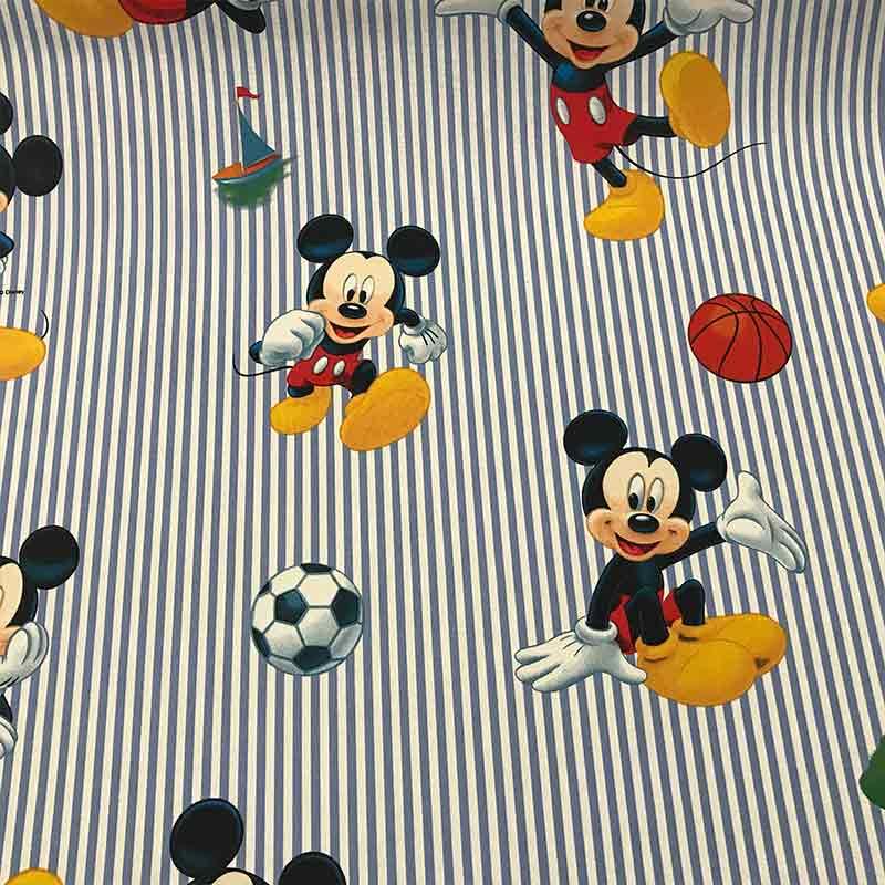 Tessuto Cotone Disney Topolino Sport