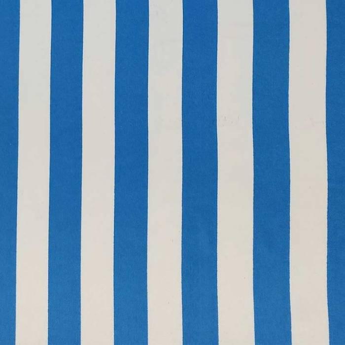 Tessuto Carnevale a Righe Bianco e Blu