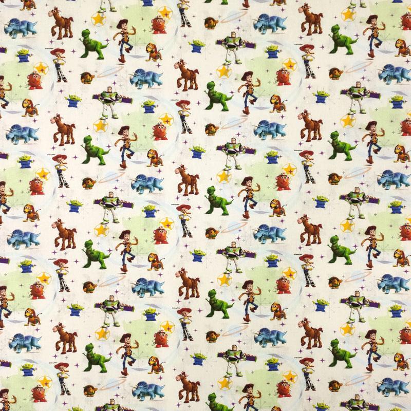 Tessuto Cotone Disney Toy Story Mini