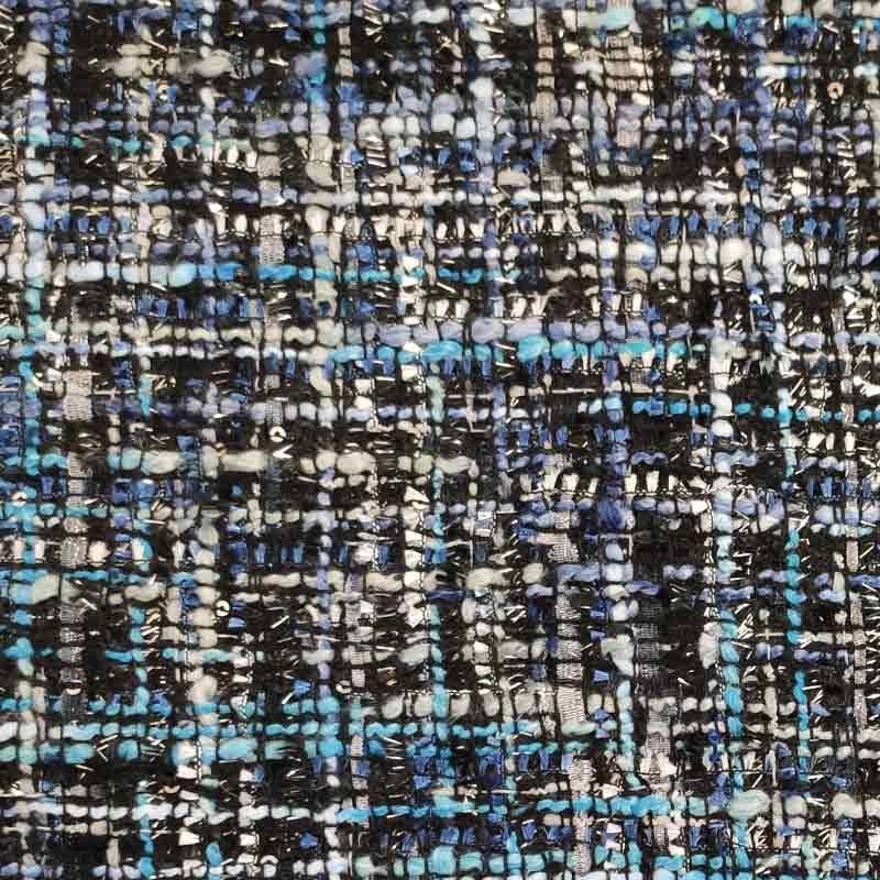 Tessuto Chanel Toni di Blu e Azzurro