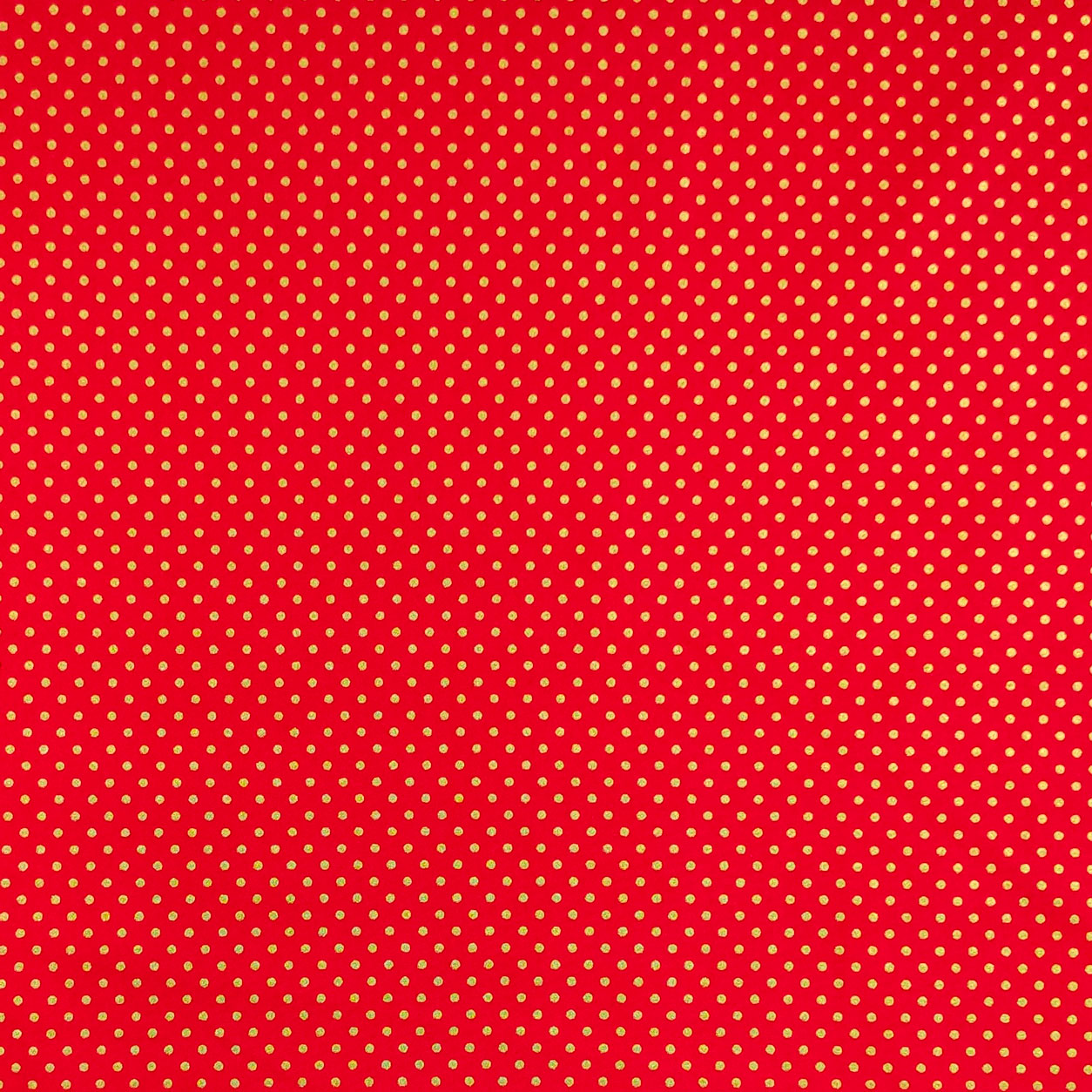 Tessuto Cotone Pois Lurex Sfondo Rosso