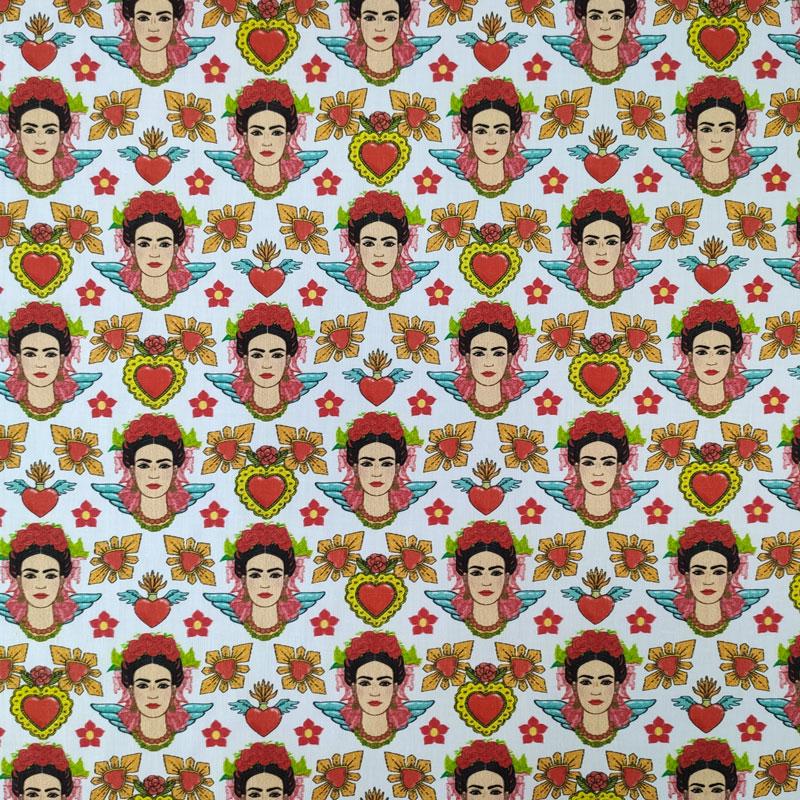 Ritaglio Rasatello di Cotone Frida Kahlo 50x140 cm