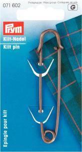 """Spilla """"Kilt"""" Ottone 76 mm"""