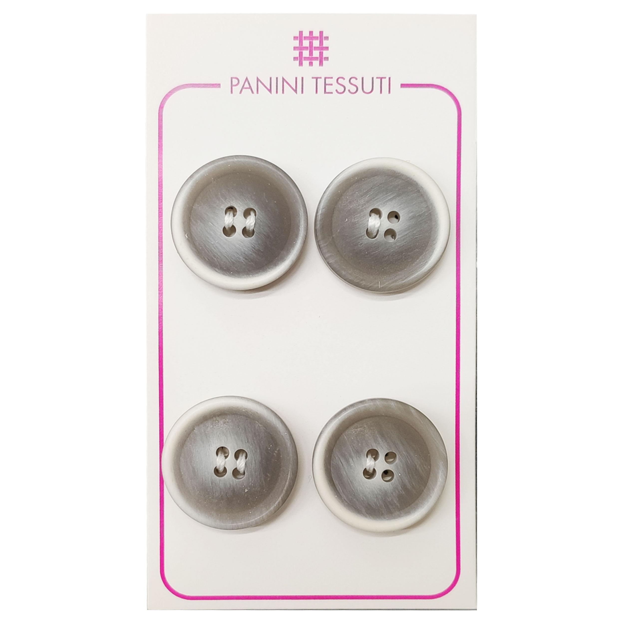 Bottoni Opachi Melange Color Grigio 4 Pezzi - Lin 32