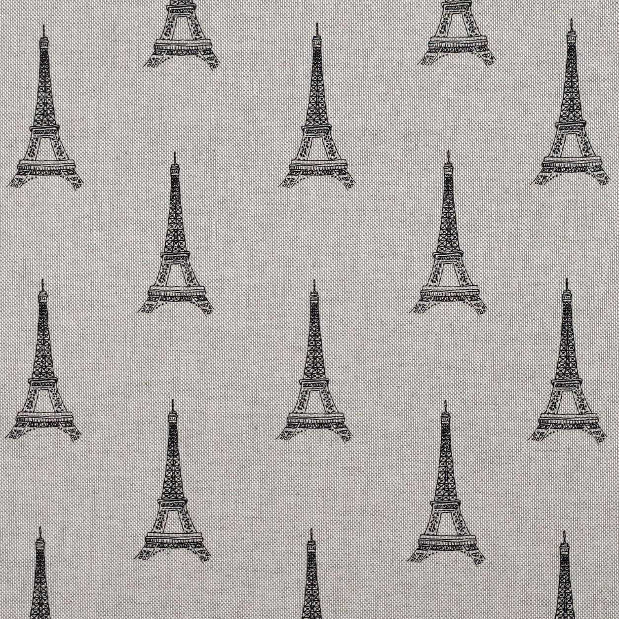 Tessuto Misto Cotone Torre Eiffel