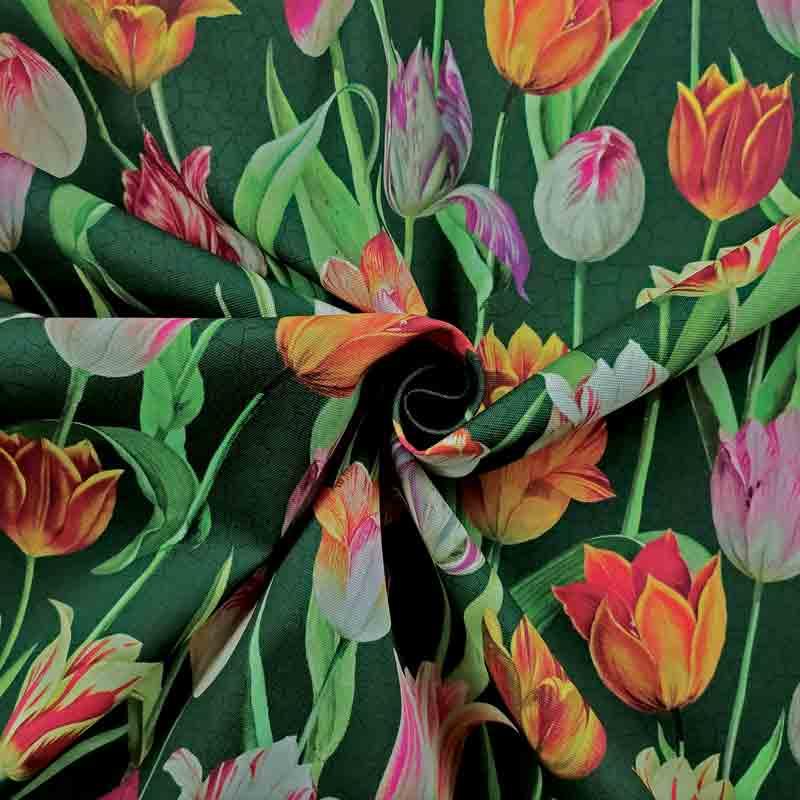 Tessuto Arredo Tulipani Dipinti
