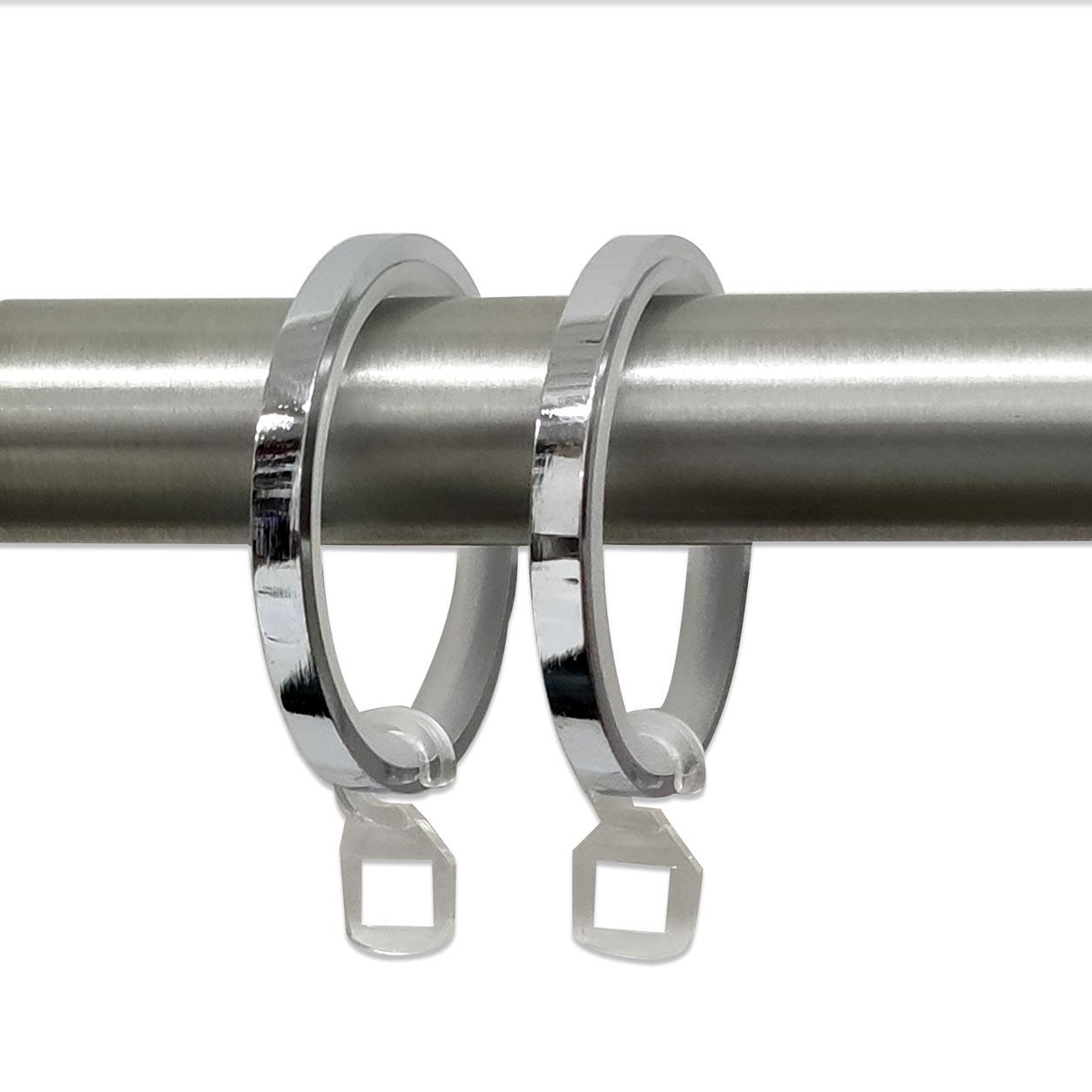 Anelli per Bastoni Diametro 34 mm - Cromato - 10 pz