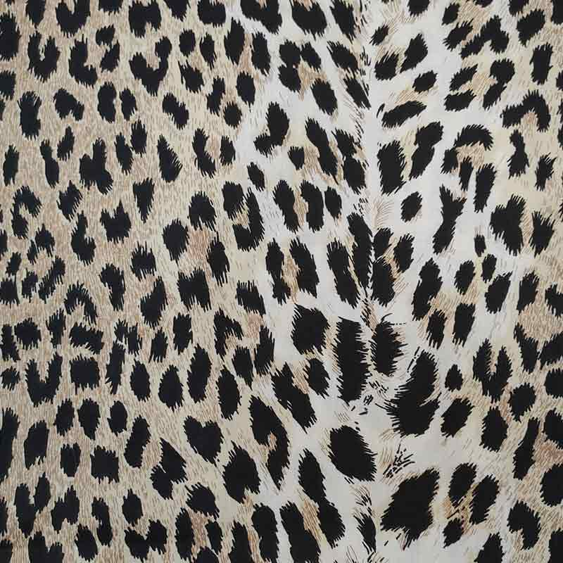 Tessuto Cotone Fantasia Leopardata