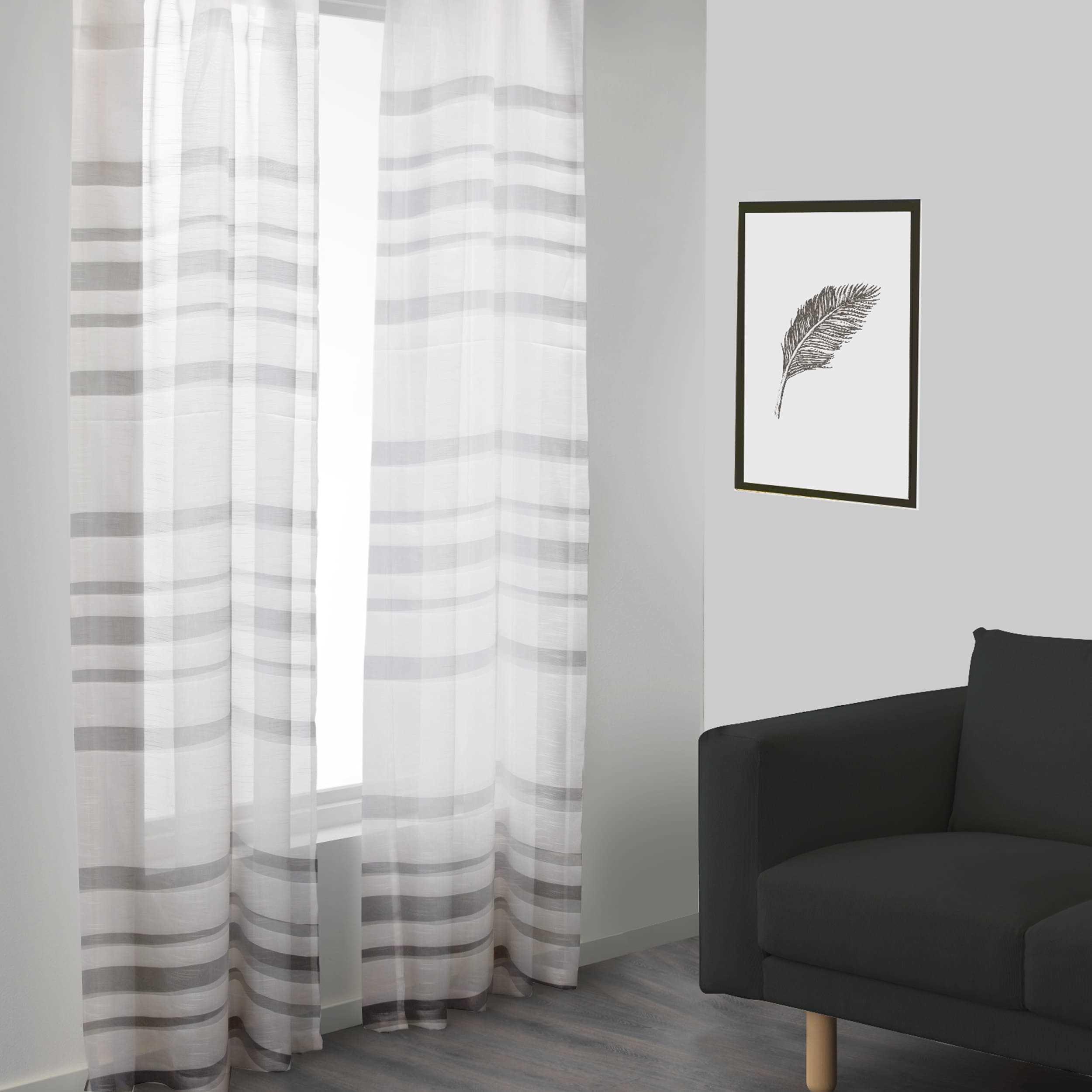 Tessuto Tenda White Stripes