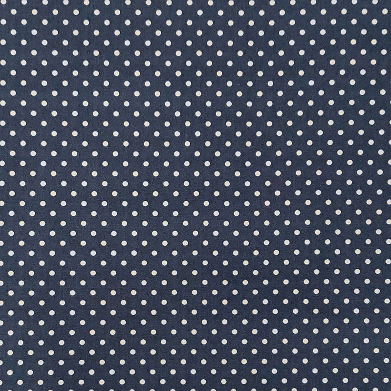 Tessuto Cotone a Pois Piccoli Blu