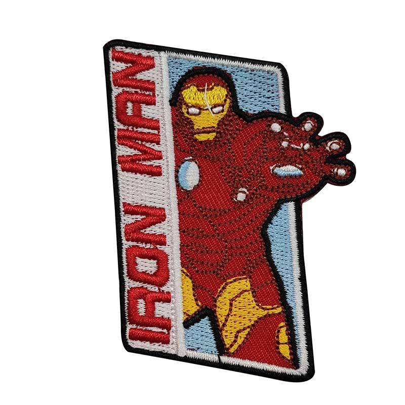 Applicazione Termoadesiva Marvel Iron Man con Scritta