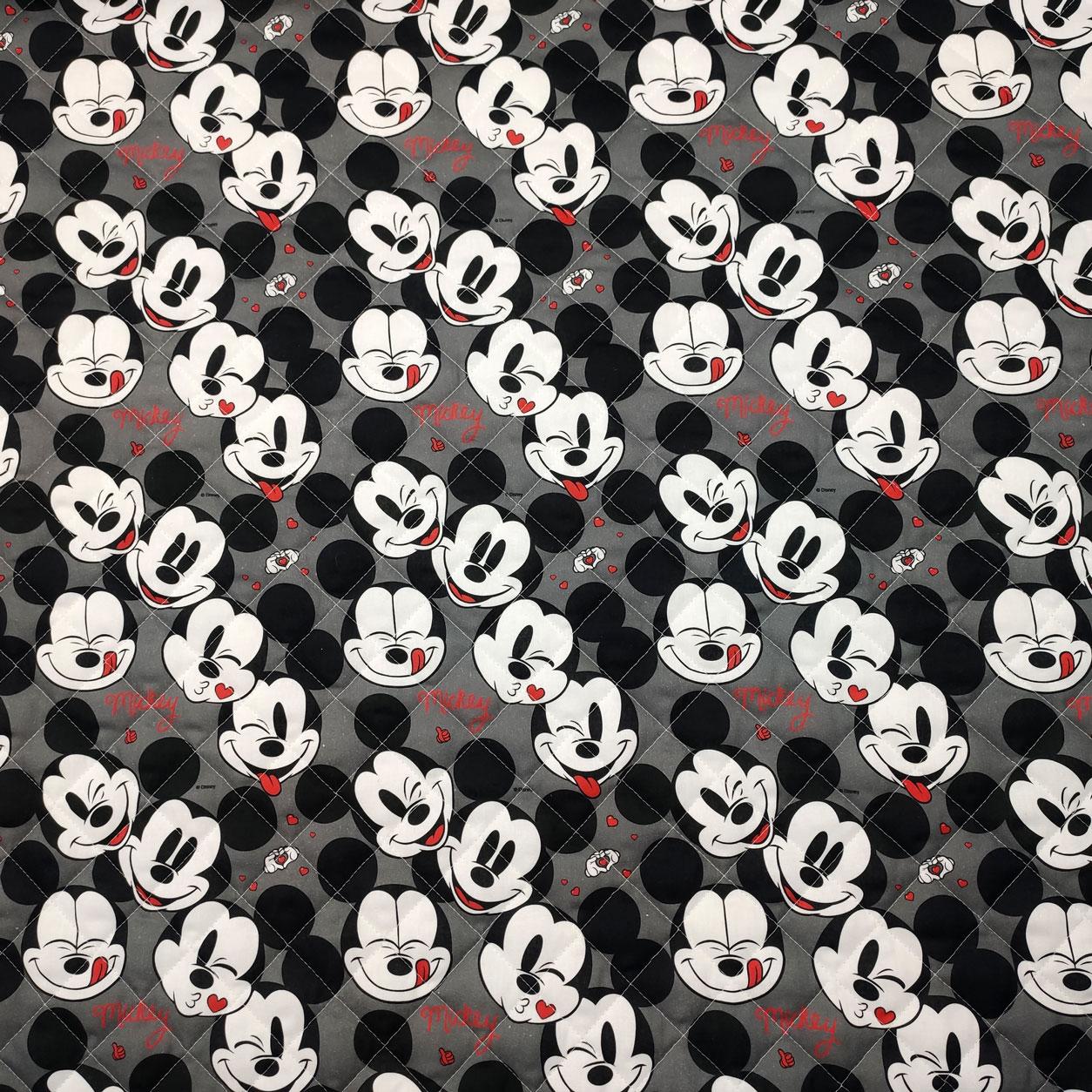 Trapunta Faccine Mickey Mouse Grigio