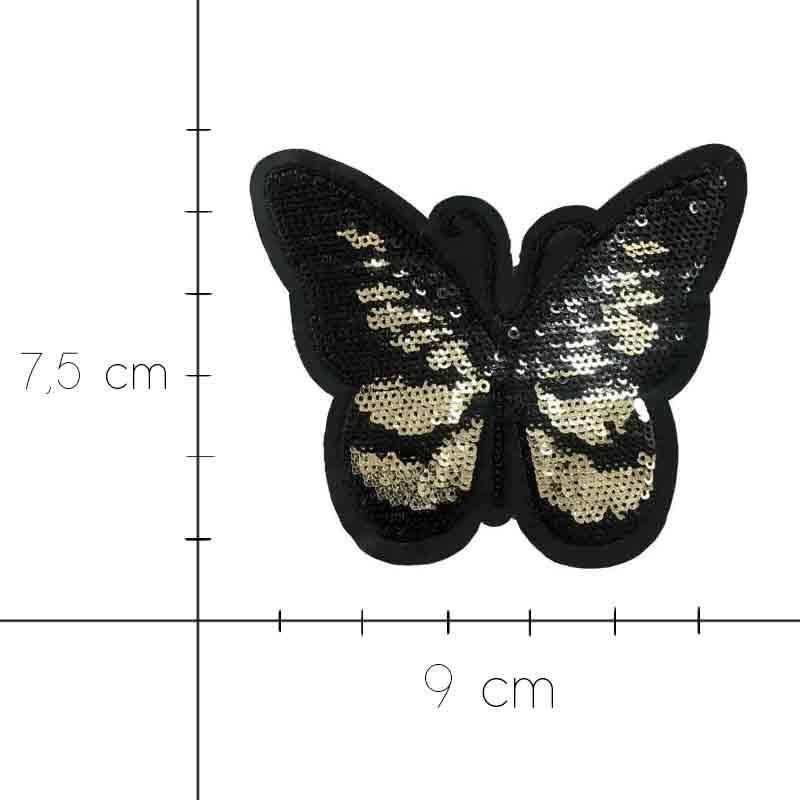 Applicazione Farfalla con Pailletes