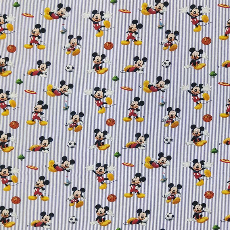 Tessuto Cotone Disney Topolino Sport Mini