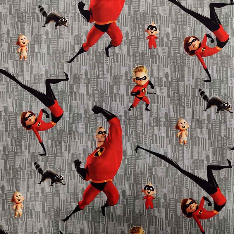 Tessuto Cotone Disney Gli Incredibili