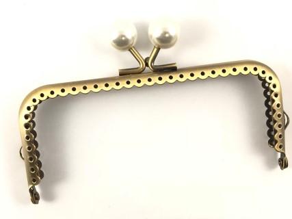 Click Clack Rettangolare Bronzo 12,5 cm a Palline Colorate