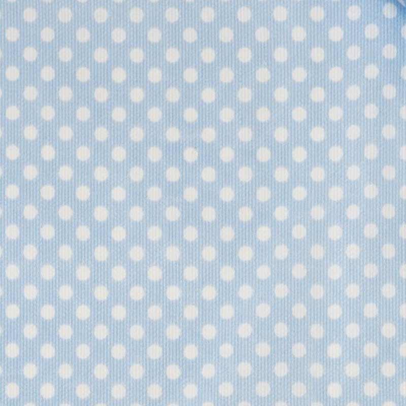 Tessuto Piquet di Cotone Pois Bianchi