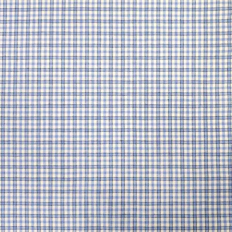 Tessuto per Camicie Quadri Azzurri