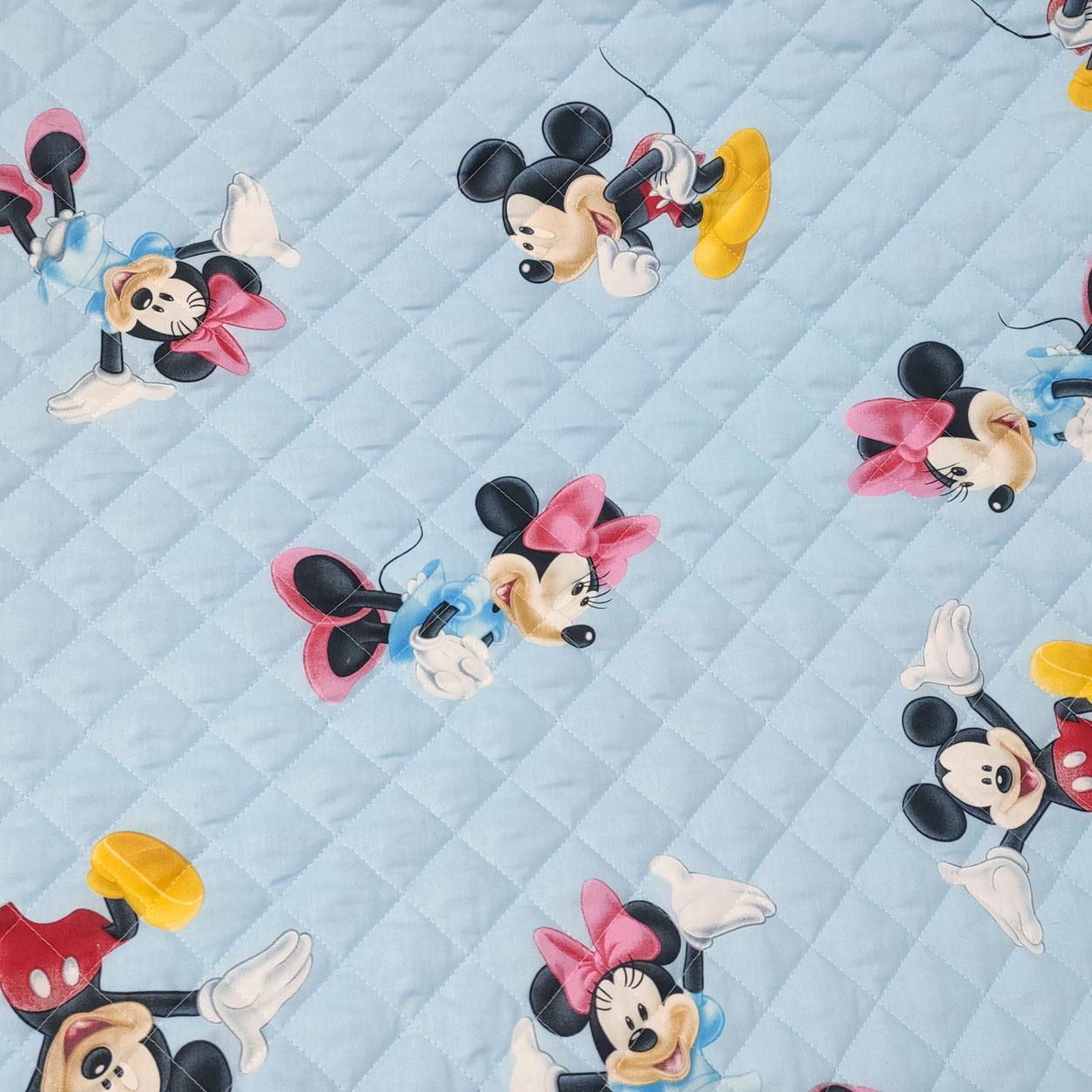 Trapunta Disney Topolino e Minnie Azzurro