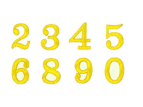 Applicazione Numeri Colore Giallo