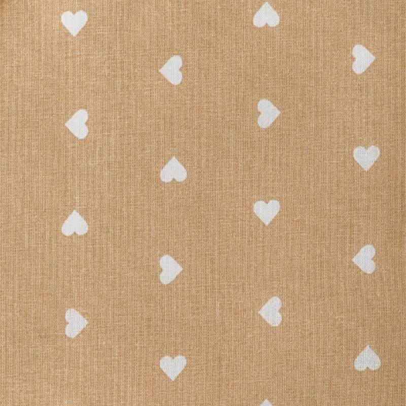 Tessuto Cotone Cuoricini Bianchi Sfondo Colorato