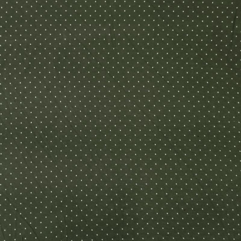Maglina Verde Militare con Mini Pois