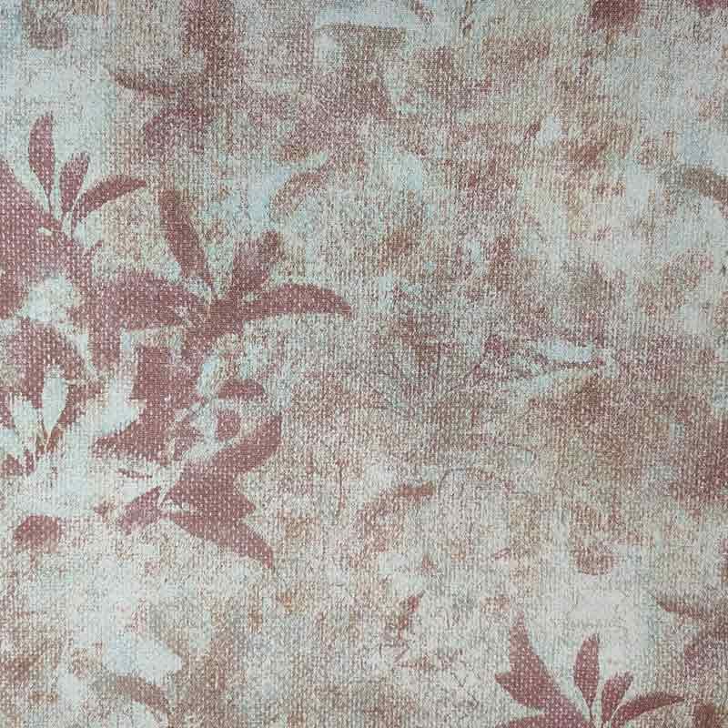 Tessuto Jacquard fantasia Floreale Stilizzata Rossa