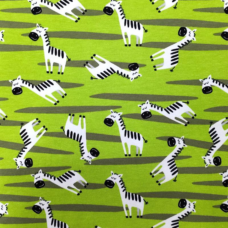 Jersey Zebre Sfondo Verde Acido