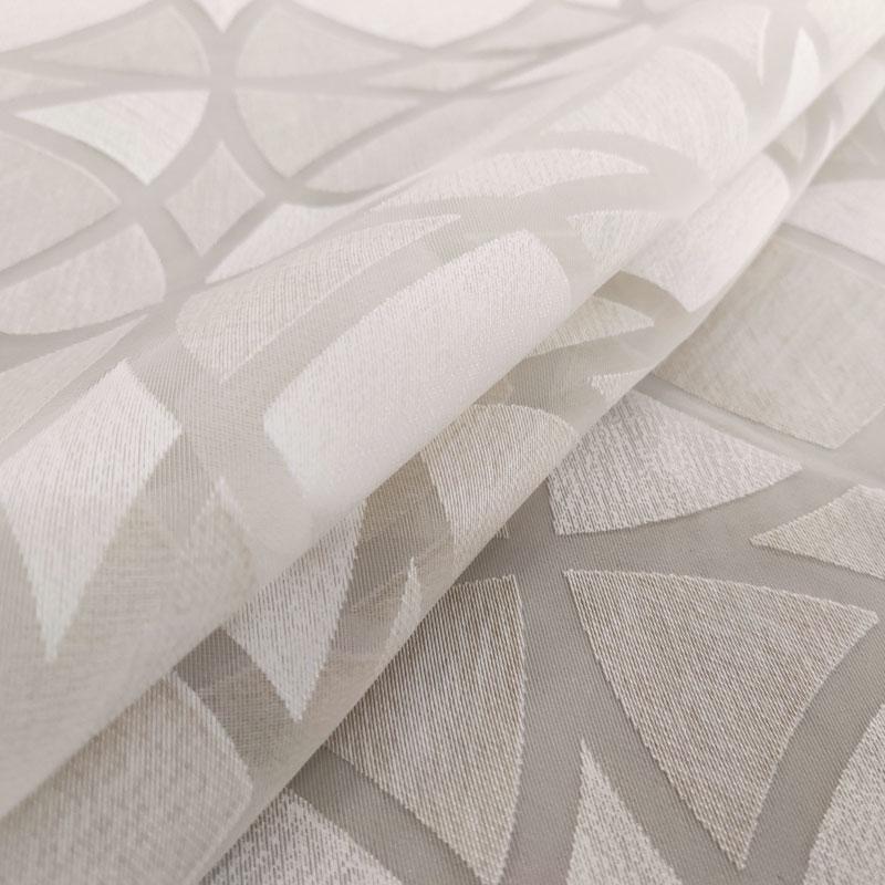 Tessuto Tenda Devorè Geometrico Beige