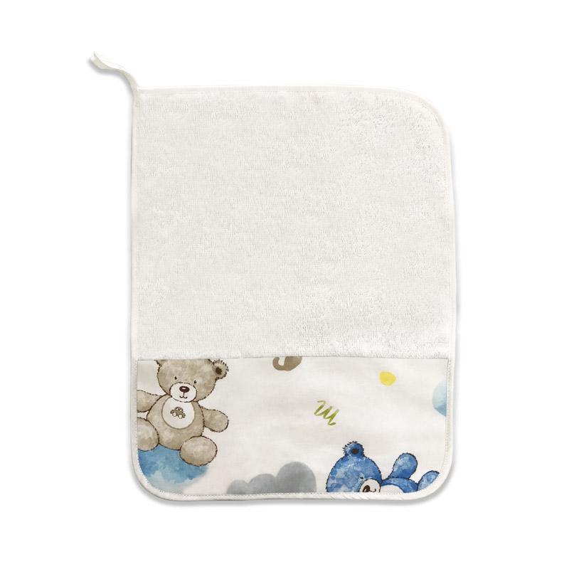 Asciugamano Orsetti e Nuvole Azzurro
