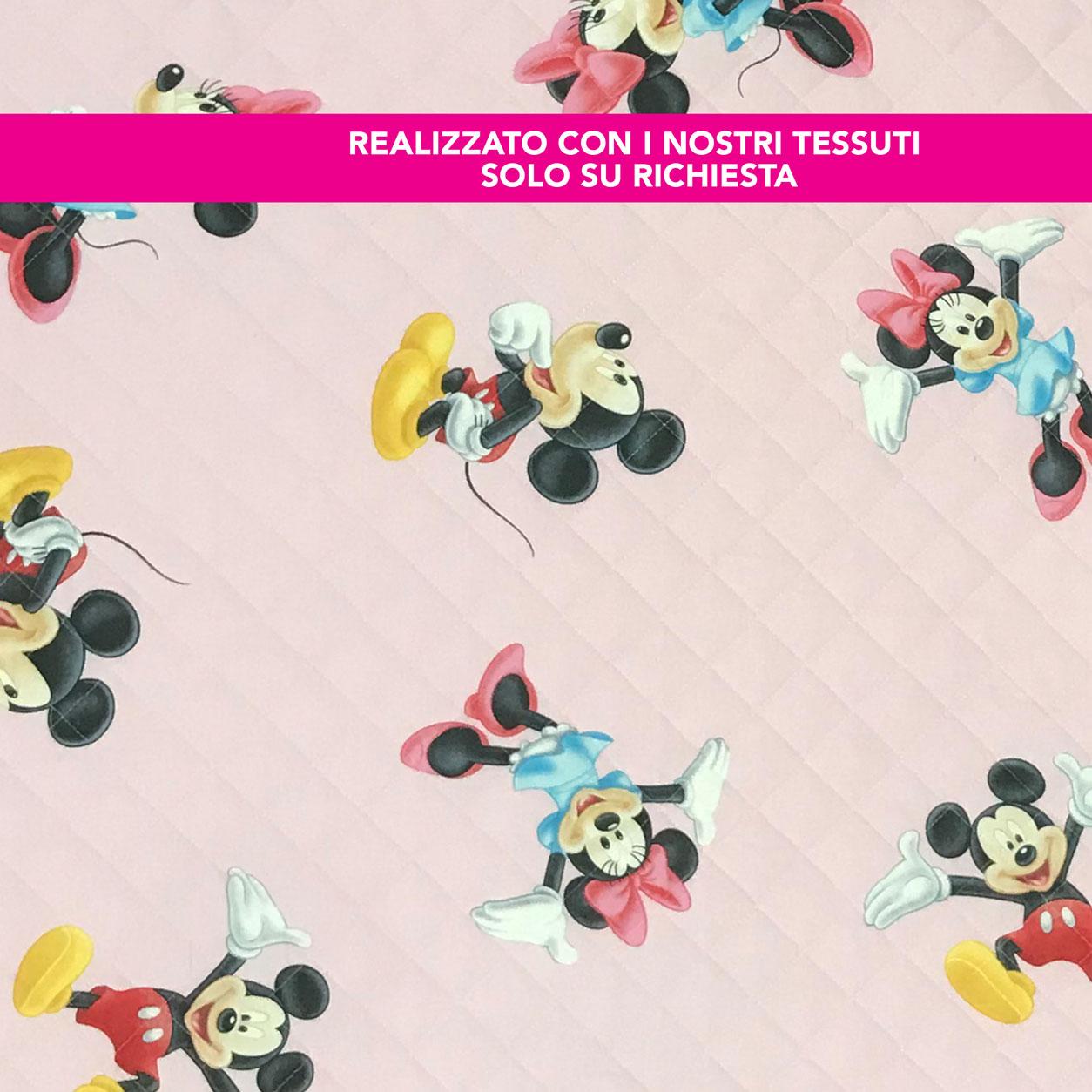 Sacco Nanna Personalizzato Topolino e Minnie Rosa