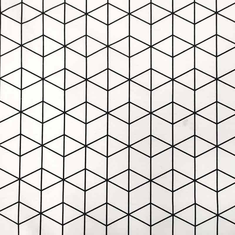 Tessuto Misto Cotone Quadrati 3D