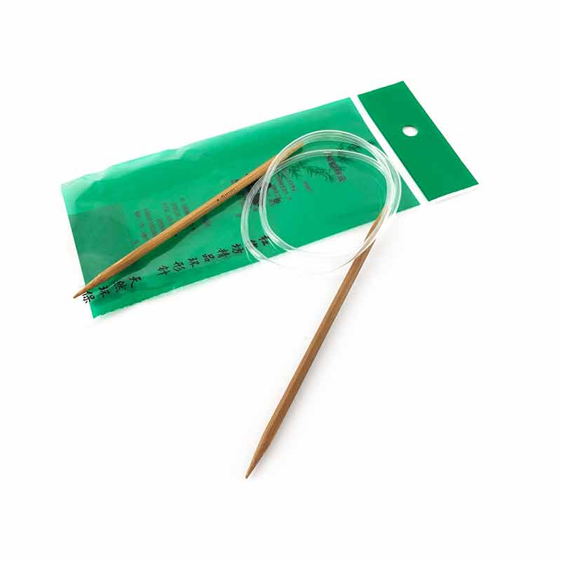 Ferri Circolari con Manico in Bamboo Naturale