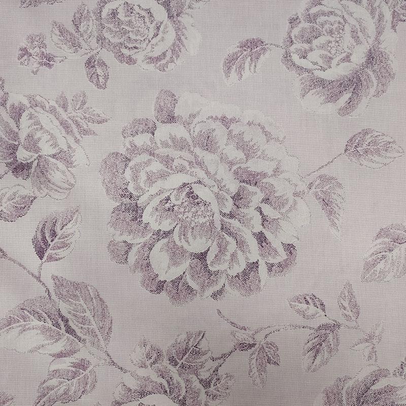 Tessuto di Cotone Rose Disegnate Glicine