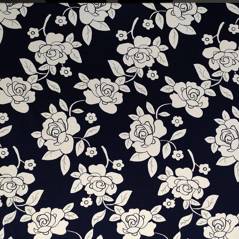 Maglina Naturale Rose Bianche Sfondo Blu