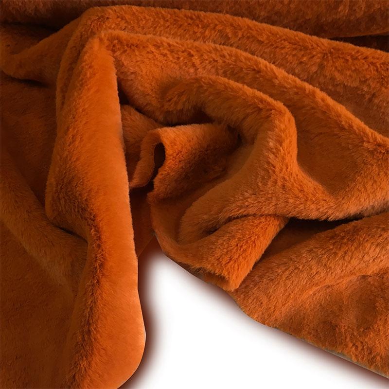 Tessuto Pelliccia da Abbigliamento Special  Rosso  Arancio