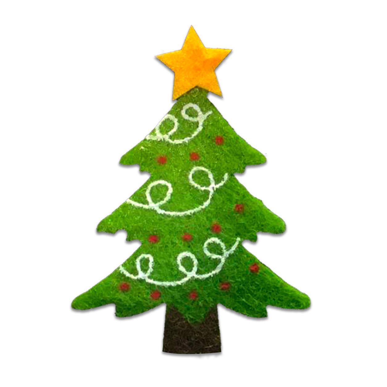Applicazione in Feltro Natalizia Albero di Natale Decorato