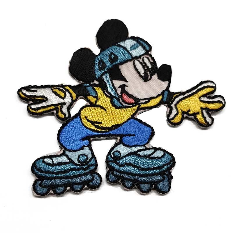 Applicazione Termoadesiva Disney Topolino con Pattini