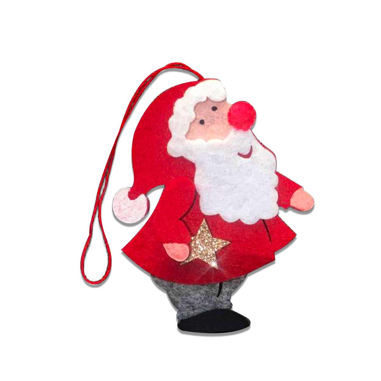 Applicazione in Feltro Babbo Natale con Stella