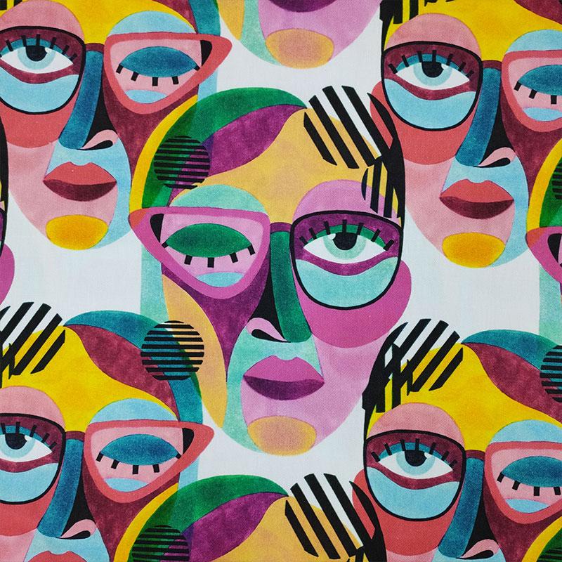 tessuti arredo facce pop art