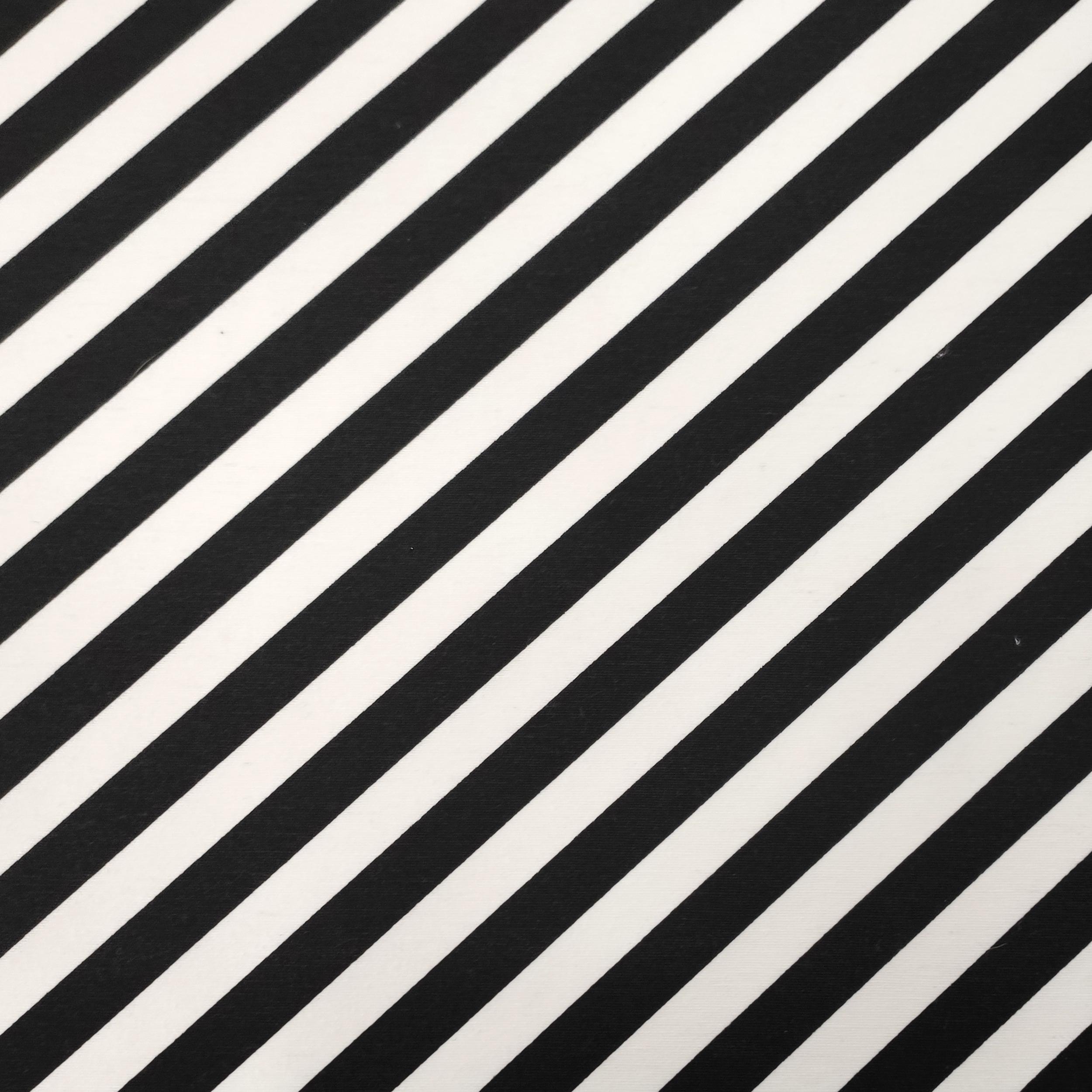 Tessuto Misto Cotone con Linee Oblique